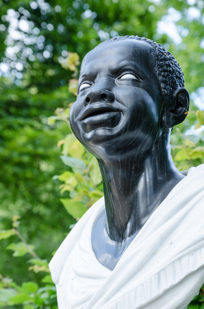 german ethnicity: Baroque statue of an Afro-American woman (18 century), Potsdam, Brandenburg, Germany