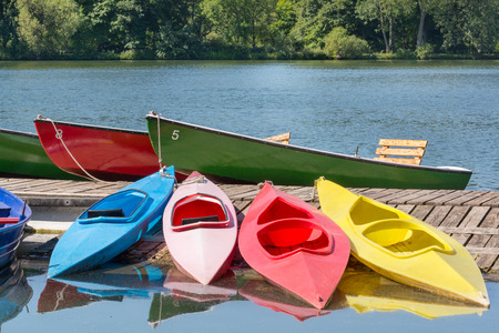 Many boats in a summer day, Maschsee, Hannover, Germany