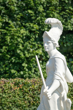 Sandstone statue of Europe (1708), Herrenhausen Gardens, Hannover, Europe Stock Photo