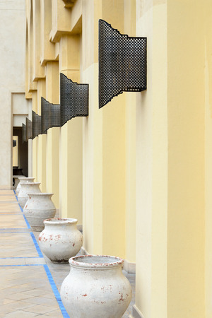 Row of ceramic vases on the street, Dubai