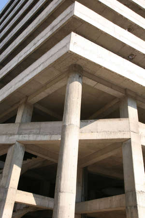 buildingsite: unfinished building Stock Photo