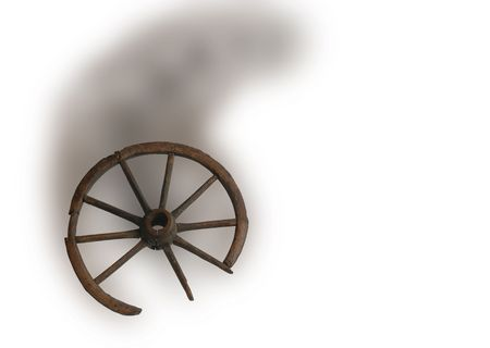 Vintage Horse Carriage wheel                                 photo