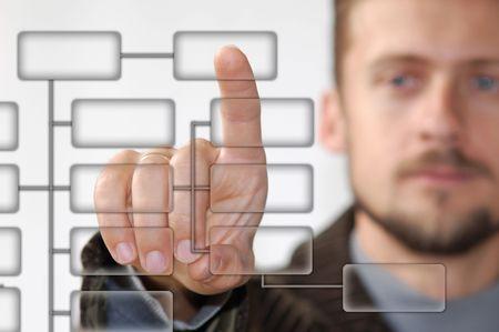 A businessman showing virtual keyboard photo