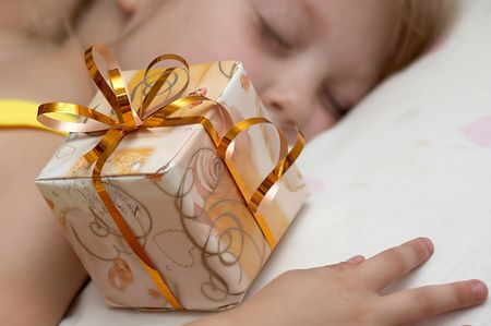An image of girl with  present Stock Photo - 2351937