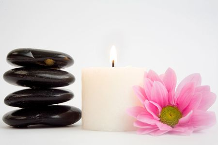 clearness: A stack of black stones for SPA and petal