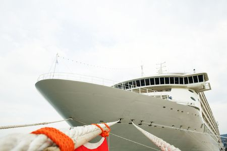 An image of front view of modern cruise liner photo