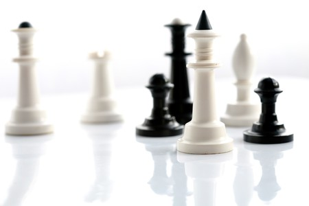 king and queen: Stock photo: an image of chess: pawns,king,queen Stock Photo