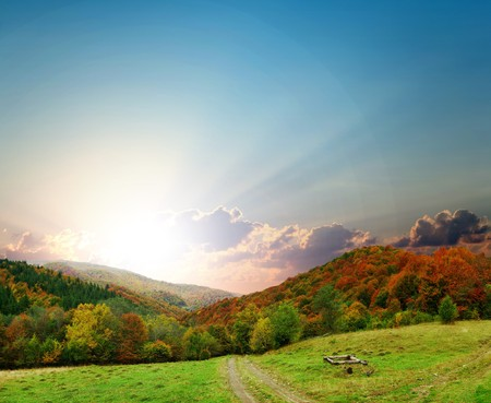 Stock photo: an image of majestic autumn landscape Stock Photo