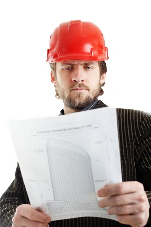 Stock photo: an image of an engineer  in red cap Stock Photo - 4557956