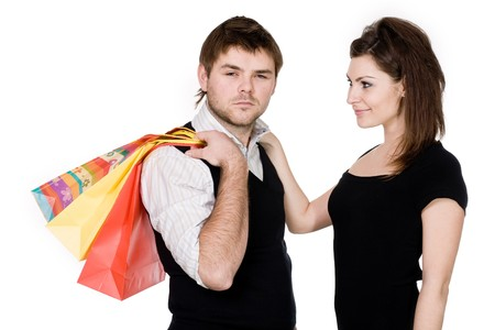Stock photo: an image of a couple with bags Stock Photo - 4557964