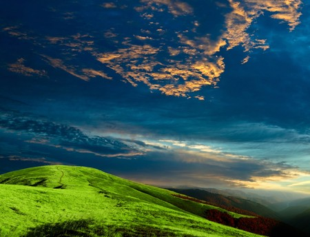 Stock photo: an image of majestic evening in the mountains Stock Photo
