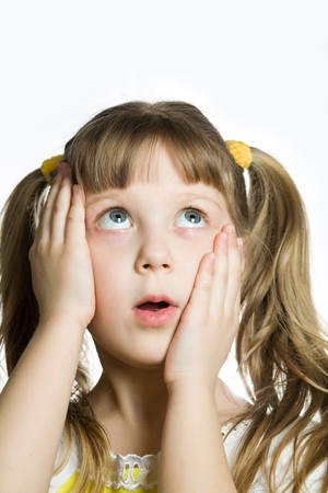 Stock photo: an image of  little surprised girl photo