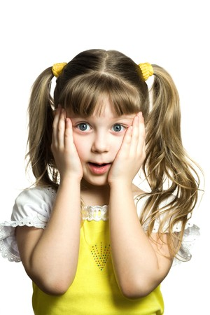 surprised child: Stock photo: an image of a little surprised girl Stock Photo