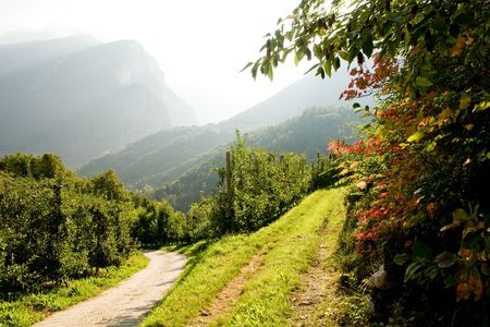 mountain valley: An image of beautiful picture of the mountains Stock Photo