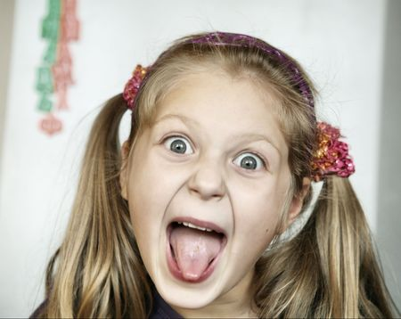 An image of a girl with her mouth open Stock Photo - 6013164
