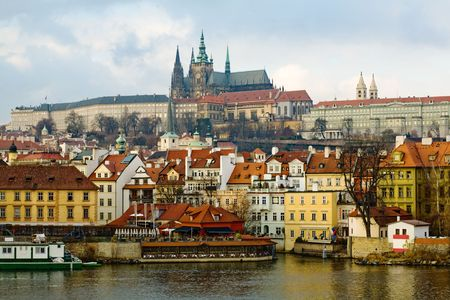 Photo of old town of Prague from river Vltava