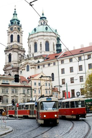 An image of a trolley-bus in Prague