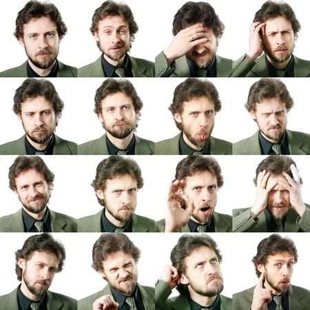 multiple image: An image of a set of facial expressions