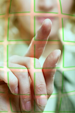 An image of a hand pressing a button Stock Photo - 6585678