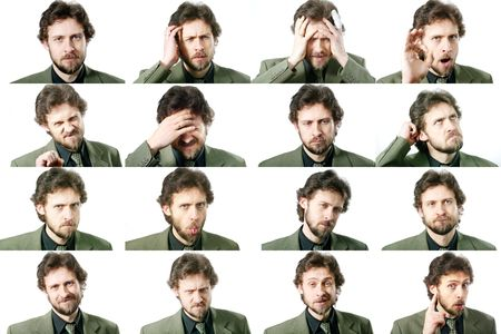 composite: An image of a set of facial expressions