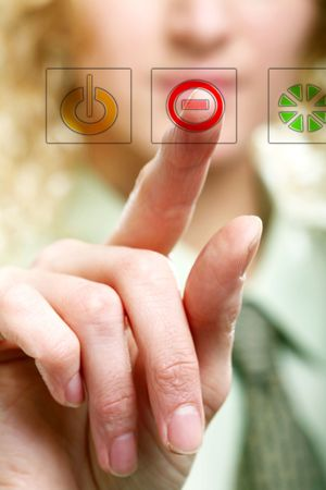 An image of a finger pressing a button Stock Photo - 6665166