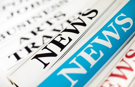 An image of three rolls of newspapers Stock Photo - 7164952