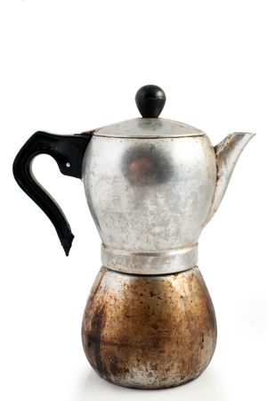 percolator: An image of a very old percolator