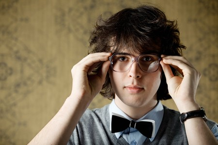 An image of a young man in big glasses Stock Photo - 8271388