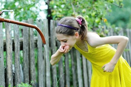 nice girl: An image of a nice girl drinking water