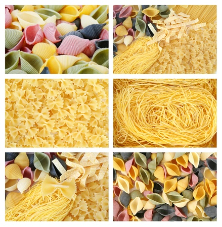 An image of set of vaus pasta of different colors Stock Photo - 11893322