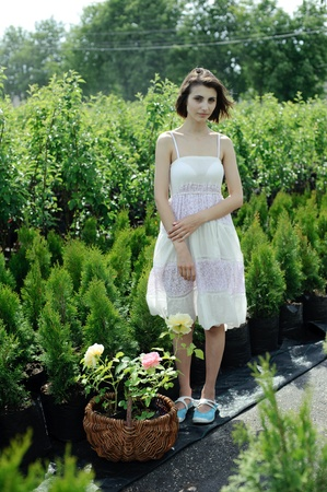 An image of a young girl in the garden photo