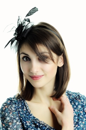 An image of a young pretty woman smile photo