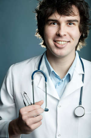 An image of a portrait of a happy doctor  photo