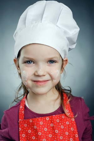An image of a little girl in white hat Stock Photo - 13193568