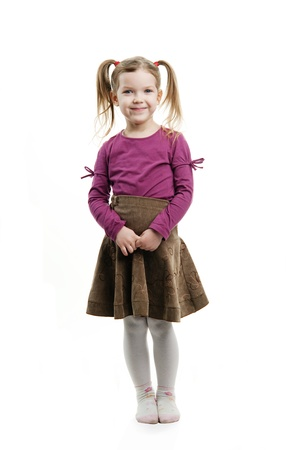 An image of a funny little girl  photo