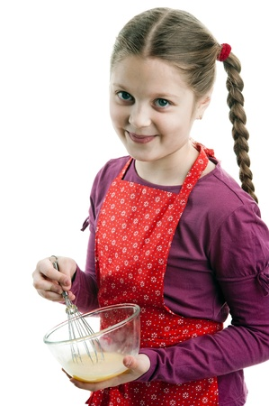 An image of a girl with a bowl photo