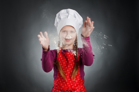 An image of a funny little girl in white hat Stock Photo - 14244577