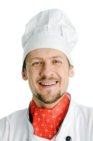 An image of a youn chef in white hat photo