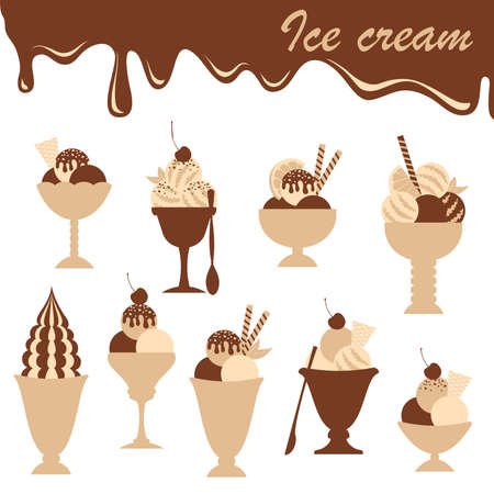 Ice cream. Stock Vector - 9843423