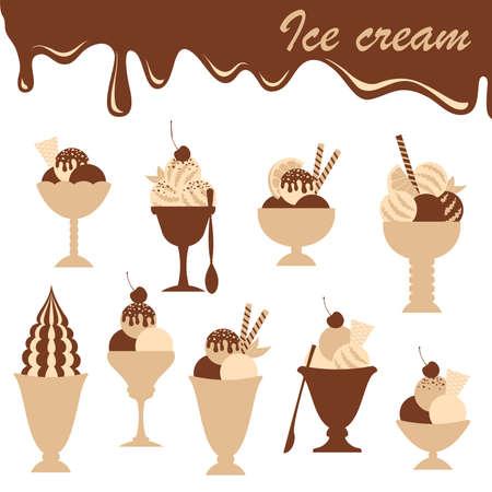 cold pack: Ice cream.