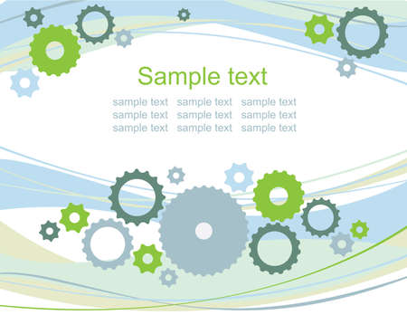 gears background, business card Stock Vector - 9832836