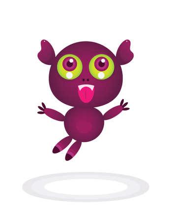 little cute monster  Vector