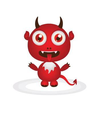 little devil cartoon Stock Vector - 9832837