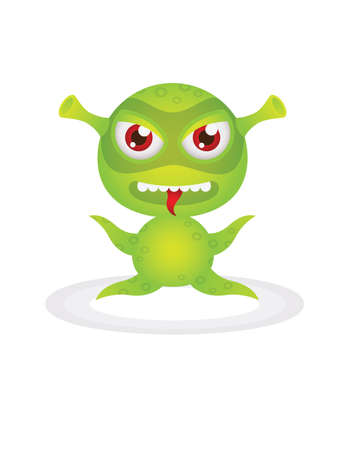 little, evil green monster  Vector