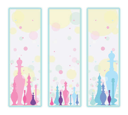 toilette: Perfume. Decorative background Illustration