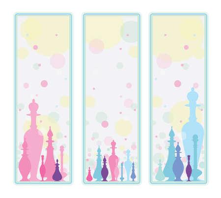 Perfume. Decorative background Illustration