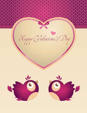 Template frame design for Valentine's card Stock Vector - 9843403