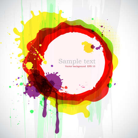 Abstract colorful ink blots with place for your text. Vector