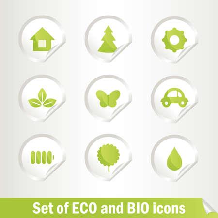 energy conservation: Different Eco bio  symbols.
