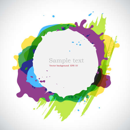 Elegance  ink blots background with place for your text  Vector